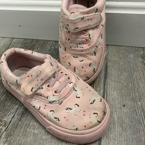 Girls Velcro unicorn sneakers